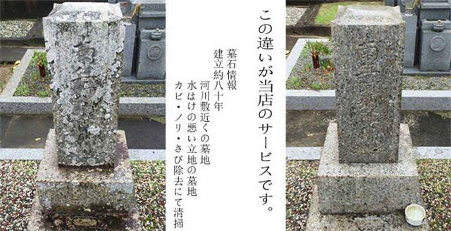 お墓掃除の実例
