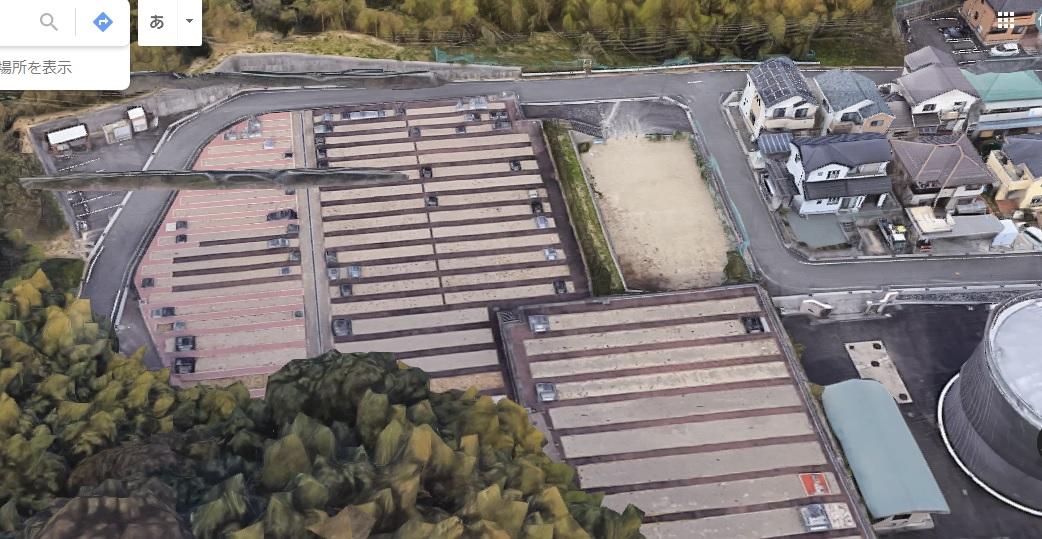 朝日町墓地公園航空写真